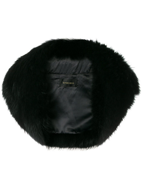 Plein Sud jacket fur fox women black