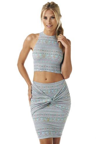 skirt montce swim cover up blue snug fit nala twist skirt montce swim top designer skirt spring 2016