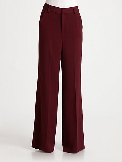 Waisted wide leg pants
