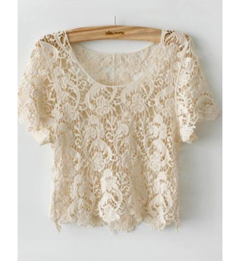Paisley Crochet Crop Top