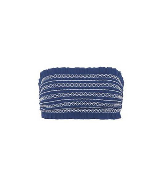 Tory Burch bikini bikini top bandeau bikini blue swimwear