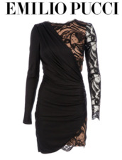 dress,black dress,lace,long sleeves,ruched,ruched dress,formfitting