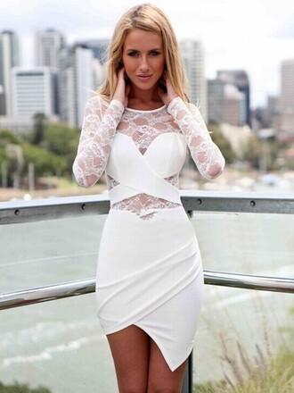 dress lace lace dress fashion style 2015 sexy white dress