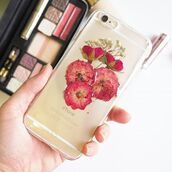 phone cover,rose,flowers,floral,pressed flwoers,cute,trendy,iphone case,iphone cover,design,samsung galaxy s6,samsung galaxy s5,samsung galaxy s4,gift ideas,handmade,handcraft,real flowers,iphone 6s,iphone 6s plus,iphone 5s,holiday gift,red,home decor,shabibisheep,samsung galaxy cases,valentines day gift idea,mothers day gift idea,christmas,accessories