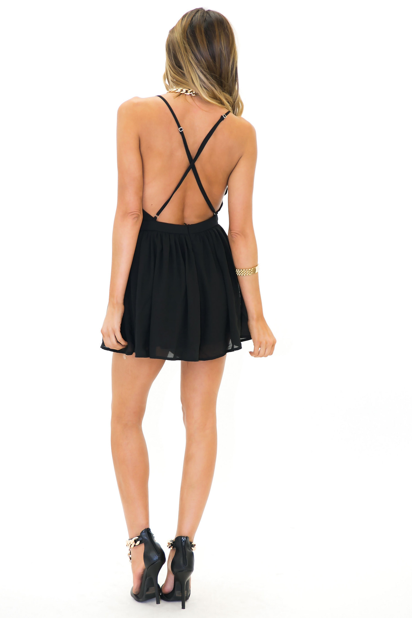 3ba421736 most popular 49882 7e932 romper deep v v neck dress open back open ...