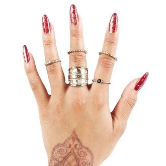 jewels gold soul ring knuckle ring accessories jewelry