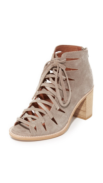 Jeffrey Campbell booties lace taupe shoes