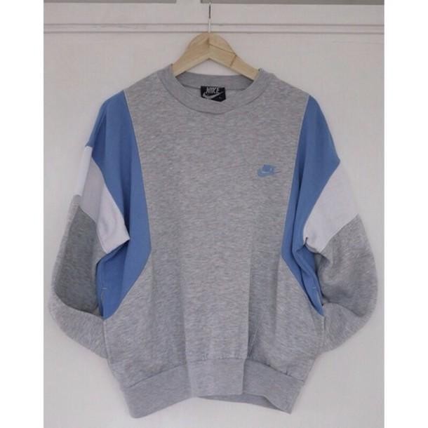 sweater nike sweatshirt crewneck shirt nike sweater grey sweater white stripe grey sweater winter sweater nike sweatshirt