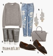 different cands,blogger,bag,outfit,ripped jeans,slippers,pointed toe,holiday gift,earrings