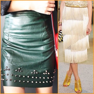 skirt fringes spikes