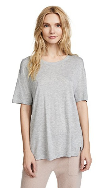 short grey heather grey top