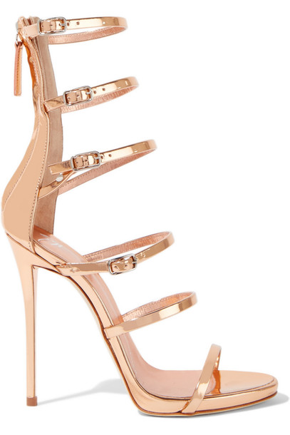 Giuseppe Zanotti sandals leather sandals leather rose gold rose gold shoes