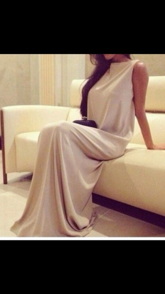 dress evening dress gown style sexy hot nude dress nude cute tumblr outfit tumblr tumblr dress