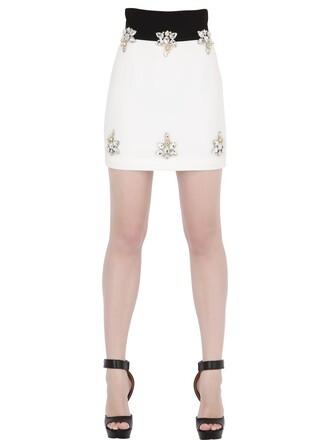 skirt mini skirt mini embellished white black