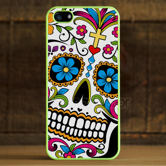 rainbow jewels sugarskull dia de los muertos tatoo colorful dope fresh day of the dead zombie illest obey skull flowers cross grunge indie hipster retro