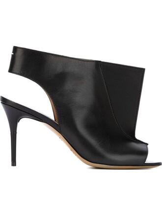 geometric sandals black shoes