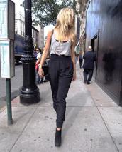 pants,tank top,chic,edgy,swag,shoes,ineed,cute,black,bag