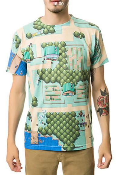 pokemon t-shirt menswear mens t-shirt pokemon, tshirt, need, harry styles, michael clifford,  cool