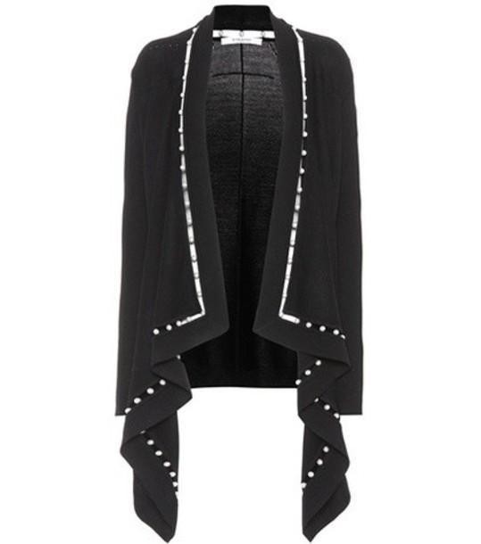 cardigan cardigan embellished wool black sweater