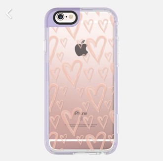 phone cover iphone case transparent heart peach tan