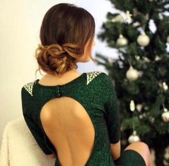 dress green green dress sequin dress black prom dress black sequin dress green sequin dress cute dress prom dress any colour #dress #openback #pretty #formal