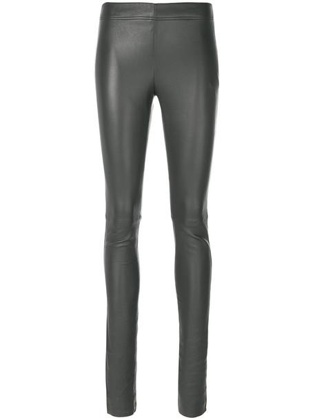 pants skinny pants women spandex cotton grey