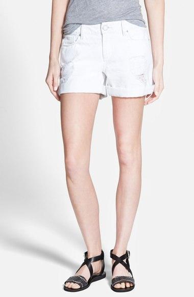 DL1961 'Karlie' Cuffed Denim Shorts (Polar)   Nordstrom