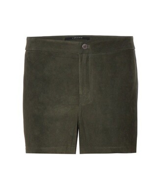 shorts suede shorts suede green