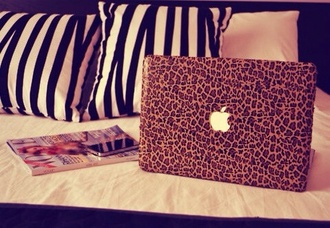 jewels leopard print macbook case