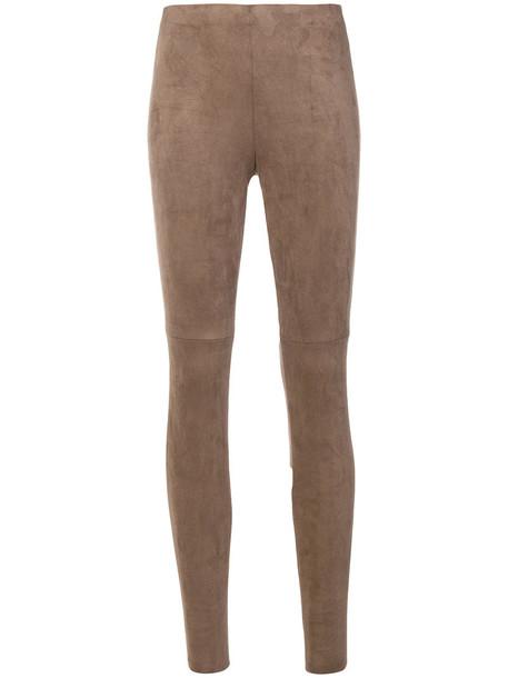 Cambio high waisted high women brown pants