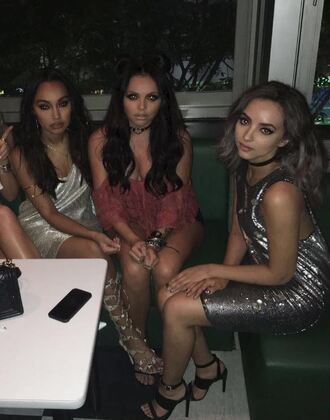 dress sequins sequin dress instagram jade thirlwall little mix sandals silver silver dress party dress