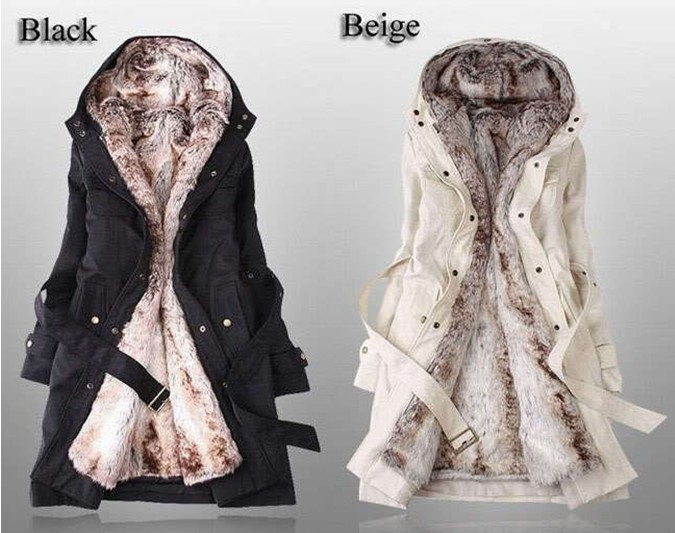 2013 HOT Women Thicken Fleece Warm Coat Lady Outerwear FUR Jacket Fashion NEW | eBay