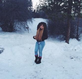 coat fur kayla phillip sweater