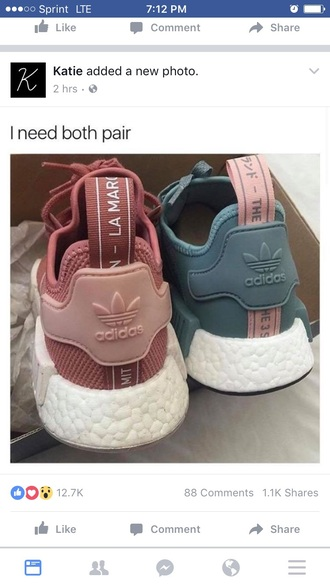 shoes blouse navy blue rose-pink shorts adidas shoes adidas pastel sneakers blue sneakers grey sneakers petrol dusty pink pink sneakers purple lamar adidas nmd adidas nmd r1 pink pink grey