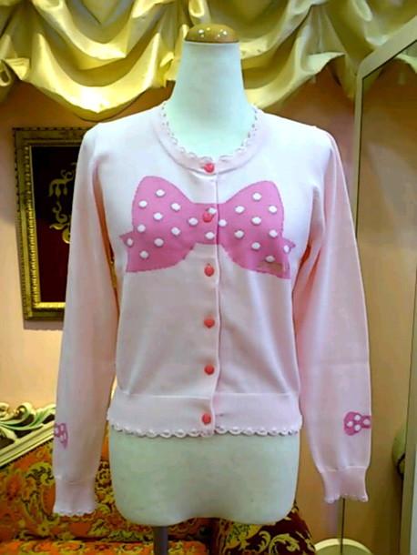 cardigan pastel bow cute kawaii jacket