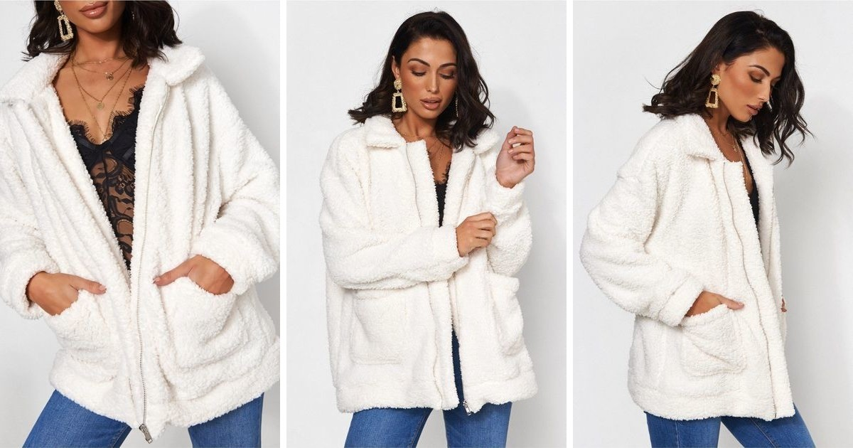 Limited Edition White Teddy Jacket   The Fashion Bible   SilkFred