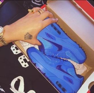 shoes blue nike nike air max 90 nike air nike shoes