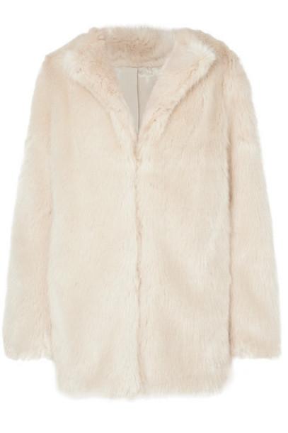 Helmut Lang - Faux Fur Coat - Beige