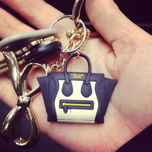 Celine bag keychain & jack plug phone charm (many colors!)