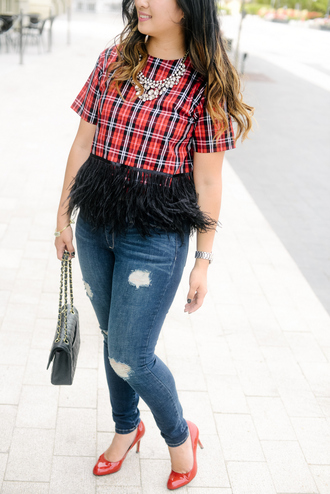 sandy a la mode blogger top jeans shoes bag jewels