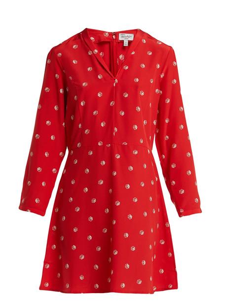 HVN Lou dice-print silk dress