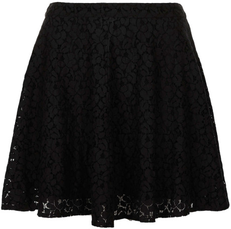 a891389cfd Topshop Black Lace Skater Skirt in Black | Lyst