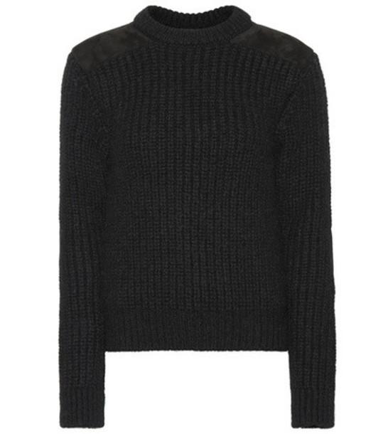 Saint Laurent Stretch wool-blend sweater in black