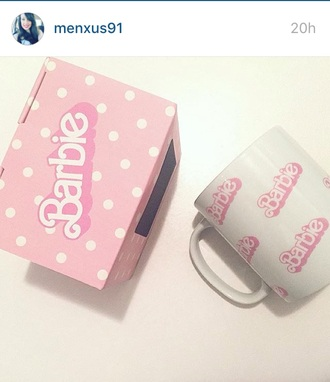 home accessory cup barbie mug barbie instagram youtuber pink kitchen goalsk beautiful pretty preppy cute girly