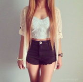 shorts,jacket,blouse,tank top,white,white blouse,white jacket,jewels,shirt,hot pants,t-shirt,coat,pink,dress,clothes,crop tops,black,wow,mini shorts,summer outfits,laced,lace top,cardigan,hair,kimono,bustier,High waisted shorts,outfit,top,flowers,white tank top,glamour,indie,jeans,denim shorts,tumblr shorts,sweater,sweatshirt,spring,tann top,high shorts,beige,fall outfits,spring outfits,denim,boho,black shorts,blonde hair,long hair,straight hair,white crop tops,floral,white top,black jeans,pants