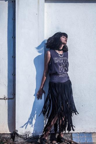 fuss blogger jewels t-shirt skirt shoes streetwear all black everything zara