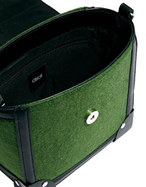 ASOS   ASOS Bag With Felt And Metal Corners at ASOS