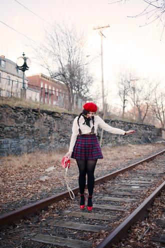 noelles favorite things blogger blouse skirt bag shoes coat