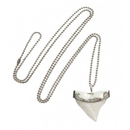 Fashionology - Fashionology Silver Upper Shark Tooth Casing Necklace