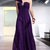 one-shoulder long Backless Purple bridesmaid dresses - £119.00 :